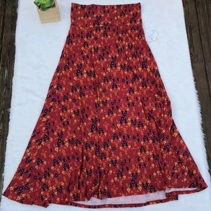 Lularoe Medium Maxi Skirt red